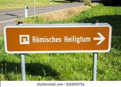 Pagan temple Pesch germany eifel