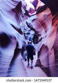 Page, AZ- August 2: Popular and famous tour at Lower Antelope Canyon in Page AZ on August 2, 2016