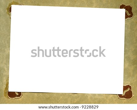 Page Oldfashioned Photo Album One Photograph Stock Photo Edit Now
