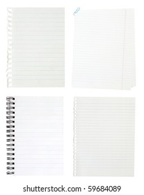 A page ripped off from the notebook