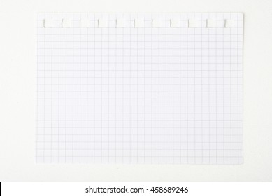 A page ripped off from the notebook isolated on white