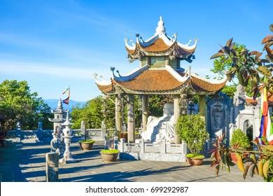Pagoda at Bana Hills, Danang Vietnam