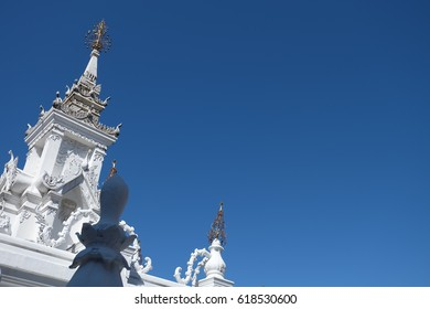 Pagoda with blue clear skay
