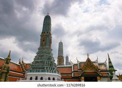 Pagoda of Buddhist temple in Bangkok