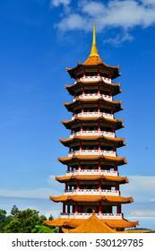 Pagoda at Chin Swee Temple. Genting Highlands near Kuala Lumpur, Malaysia