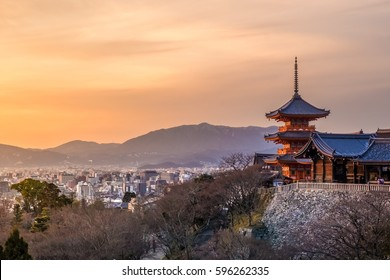 The Pagoda at Kiyomizu dera Temple(Pure Water Temple), It is one of the most celebrated temples of Japan.