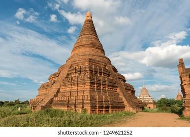 Pagoda in the Loka Oakshang Temple group, Bagan, Myanmar (Burma)