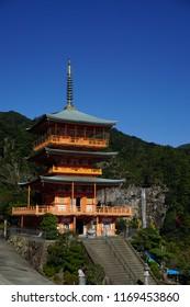 Pagoda at Nachi Fall in Wakayama, Japan