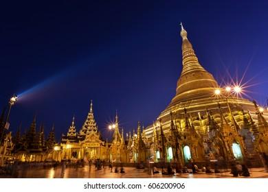 pagoda night view
