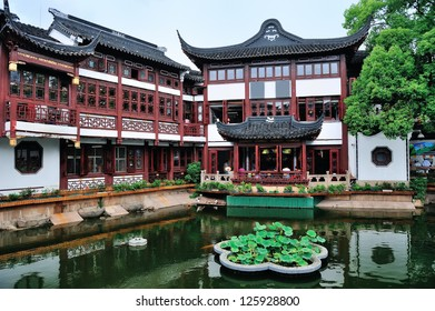 Pagoda old architecture and garden in Shanghai