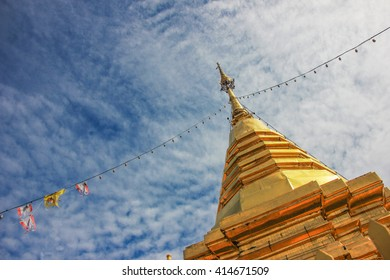 Pagoda is one of the symbols of Thailand. Inside the pagoda there sacred and buddist pray for better life.