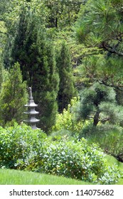 pagoda ornament in garden