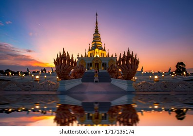 Pagoda at Saen Suk Temple Bangsaen  , Province Chonburi Thailand