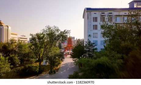 Pagoda of the Seven Days - Pagoda in the central square of Lenin in the city of Elista, Kalmykia, Russia