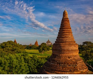 Pagoda and the sky during daylight, Old Bagan, Myanmar