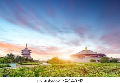 Pagoda in the Sui and Tang Dynasties National Historical Park, Luoyang, Henan, China