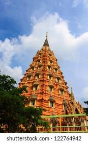 Pagoda of Thai Temple in Kanchanaburi,Thailand