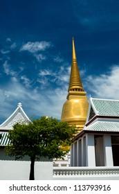 The pagoda of Wat Bowonivet Vihara ,Thailand.