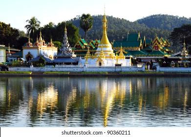 Pagoda of Wat Chong Klang in Mae Hong Son, Thailand