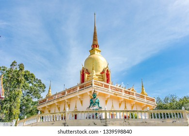 Pagoda at Wat Khuan Mit in Hat Yai, Chana district, Songkhla, Thailand