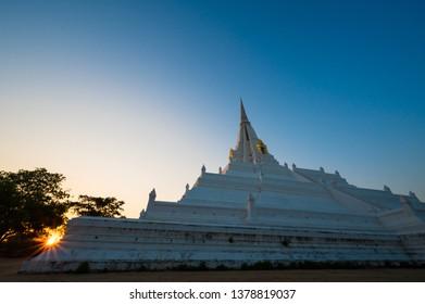 Pagoda of Wat Phu kao Thong in Ayutthaya Thailand