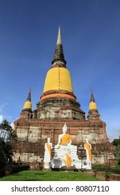 Pagoda at Wat Yai Chaimongkol, Ayuthaya, Thailand.