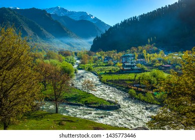 Pahalgam is a hill station 2740m above sea level. It is also known as Valley of the Shepherds where Lidder River flows through the picturesque valley.