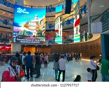 PAHANG, MALAYSIA - 11 MAY 2018: Indoor view of Sky Casino in Genting Highland
