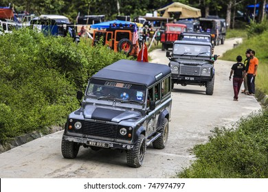 PAHANG , MALAYSIA 24 JULY 2016 : Off-road expedition forests in Cameron Highland, Pahang with four-wheel drive vehicles during the day.