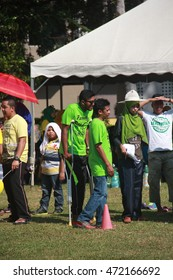Pahang Malaysia August 20 2016-Unidentified people in TDK LAMDA (M) Family Day