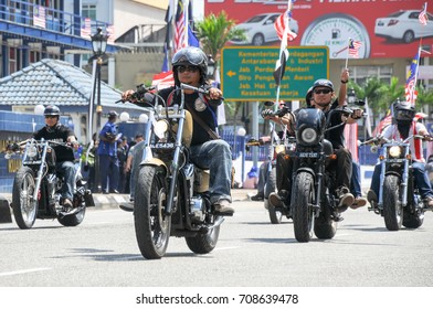 Pahang, Malaysia - August 31, 2016: Vehicle march segment in conjunction with the 60th anniversary of Malaysia's Independence Day celebration