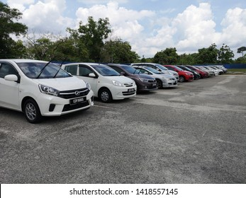 PAHANG, MALAYSIA - JUNE 1ST 2019 : Car parked at Hospital Besar Kuantan parking area in Kuantan . Parking is one of main problem to the visitor