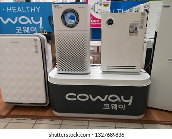 PAHANG, MALAYSIA - MARCH 2ND 2019: Coway air dispenser in a shopping mall