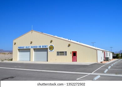 Pahranagat Valley Nevada USA November 10, 2016 A Look AtThe Pahranagat Valley Volunteer Fire Department Of Alamo, Lincoln County's Firehouse