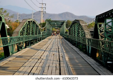 Pai Bridge located at Pai district Mae Hong Son Province Northern of Thailand Popular and Favorite of Tourist