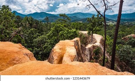 Pai Canyon (Kong Lan) in Mae hong son, northern Thailand.