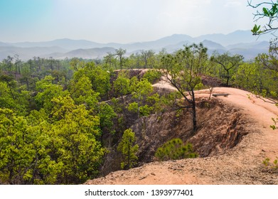 Pai Canyon or Kong Lan at pai in Mae hong son, tour attraction in Thailand.