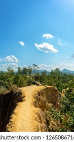 Pai Canyon with the landscape in the background in Pai, Thailand
