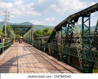 Pai, Mae Hon Son, Thailand - October 20,2019: Memorial Bridge (Sapan Tha Pai), Pai, Mae Hon Son, Thailand