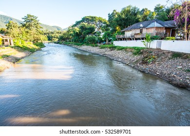 Pai river at Mae Hong Son province, Thailand.
