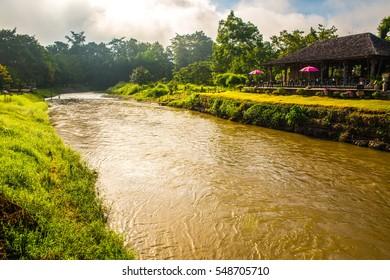 Pai river and natural view at Mae Hong Son province, Thailand.
