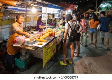 PAI, THAILAND - NOVEMBER 01, 2014: Night Market in Pai, nothern Thailand.