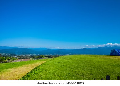 Pai, Thailand November 17 2018 : Pai in highland view. Beautiful landscape with mountain and horizon