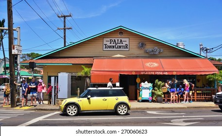 PAIA, HI -30 MARCH 2015- Paia, a cute town with restaurants and art galleries and the last stop on the Road to Hana on the North Shore of Maui, is often called the World Capital of Windsurfing.
