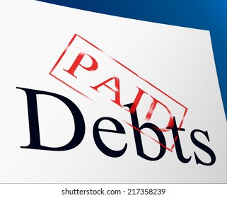 Paid Debts Showing Financial Obligation And Finance