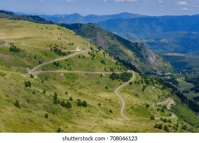 Pailheres pass in the french Pyrenees, Ariege