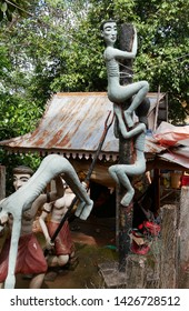 Pailin, Cambodia. 30-11-2018. A tableau of torture and torment depicts what wrongdoers can expect when they are sent to Buddhist Hell or Naraka. In the grounds of Wat Phnom Yat.