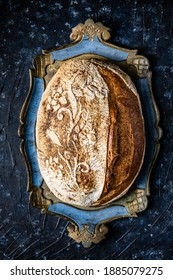 Pain demi gris it is a sourdough bread made from whole wheat flour from which the bran is removed.
