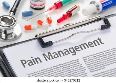 Pain Management written on a clipboard