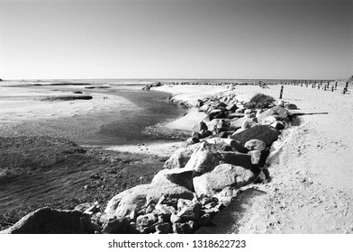 Paines Creek Beach, Brewster MA in Black and White